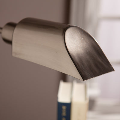 Author Table Lamp Brushed Nickel