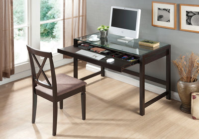 Ide Modern Glass Desk