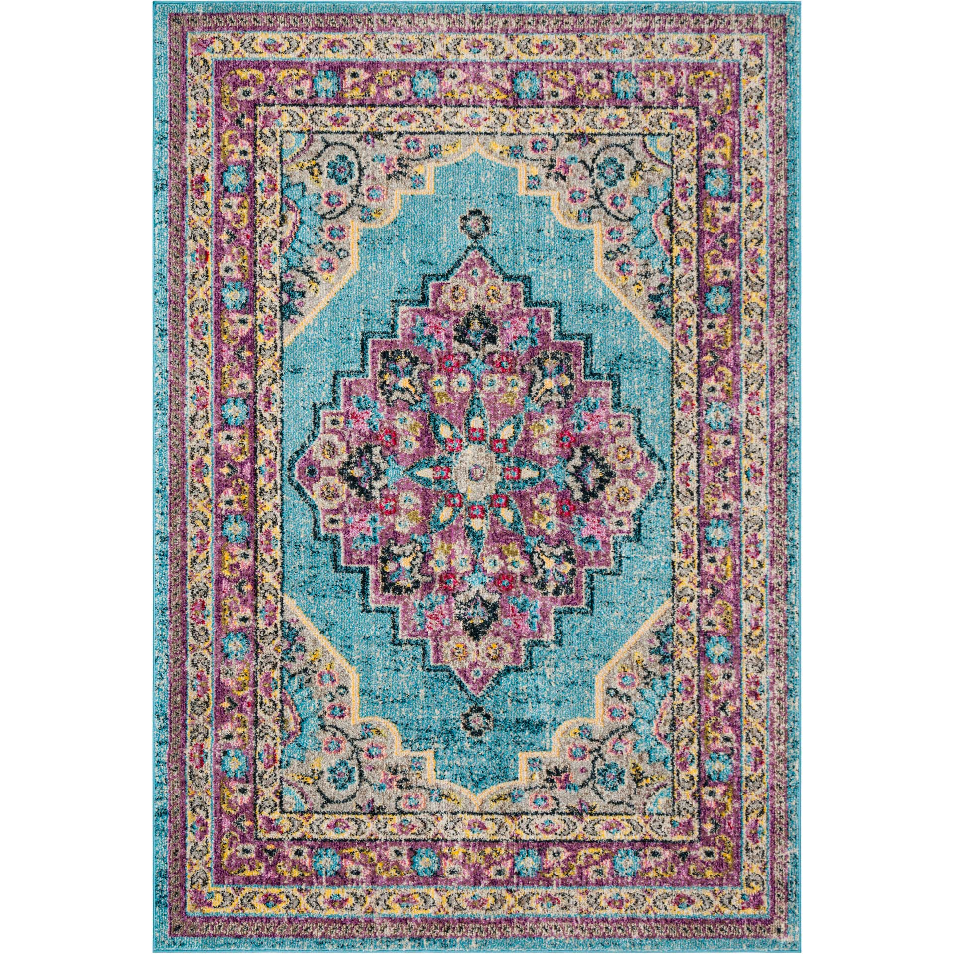 Madison Aquapurple Area Rug Froy