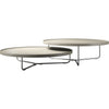 Adelphi Nesting Coffee Tables Beige Leather