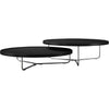 Adelphi Nesting Coffee Tables Black Leather