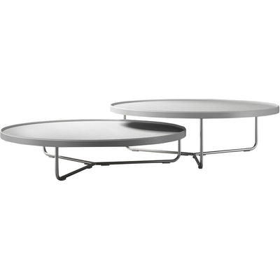 Adelphi Nesting Coffee Tables White Leather