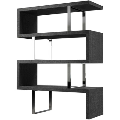 Pearl Bookcase Gray Oak