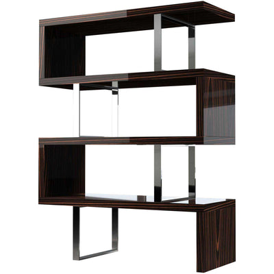 Pearl Bookcase Cathedral Ebony Lacquer