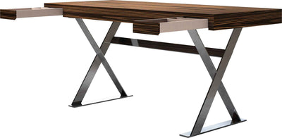 Barrow Desk Cathedral Ebony/Bright Stainless