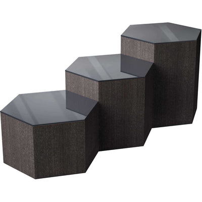 Centre Occasional Table Asphalt Glass/Gray Oak