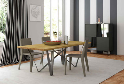 Genoa Dining Table Natural Oak/Anthracite