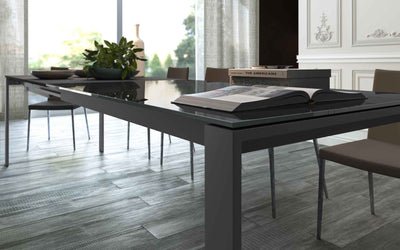 Napoli Dining Table Anthracite Glass/Anthracite