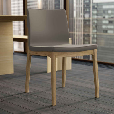 Enna Dining Chair Dove Gray/Natural Oak (Set of 2)