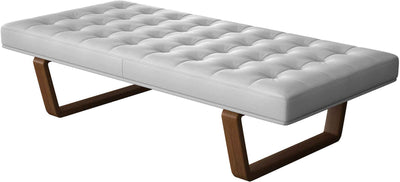 Charlton Bench Soft Snow/Walnut