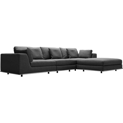 Perry Sectional Sofa Shadow Gray