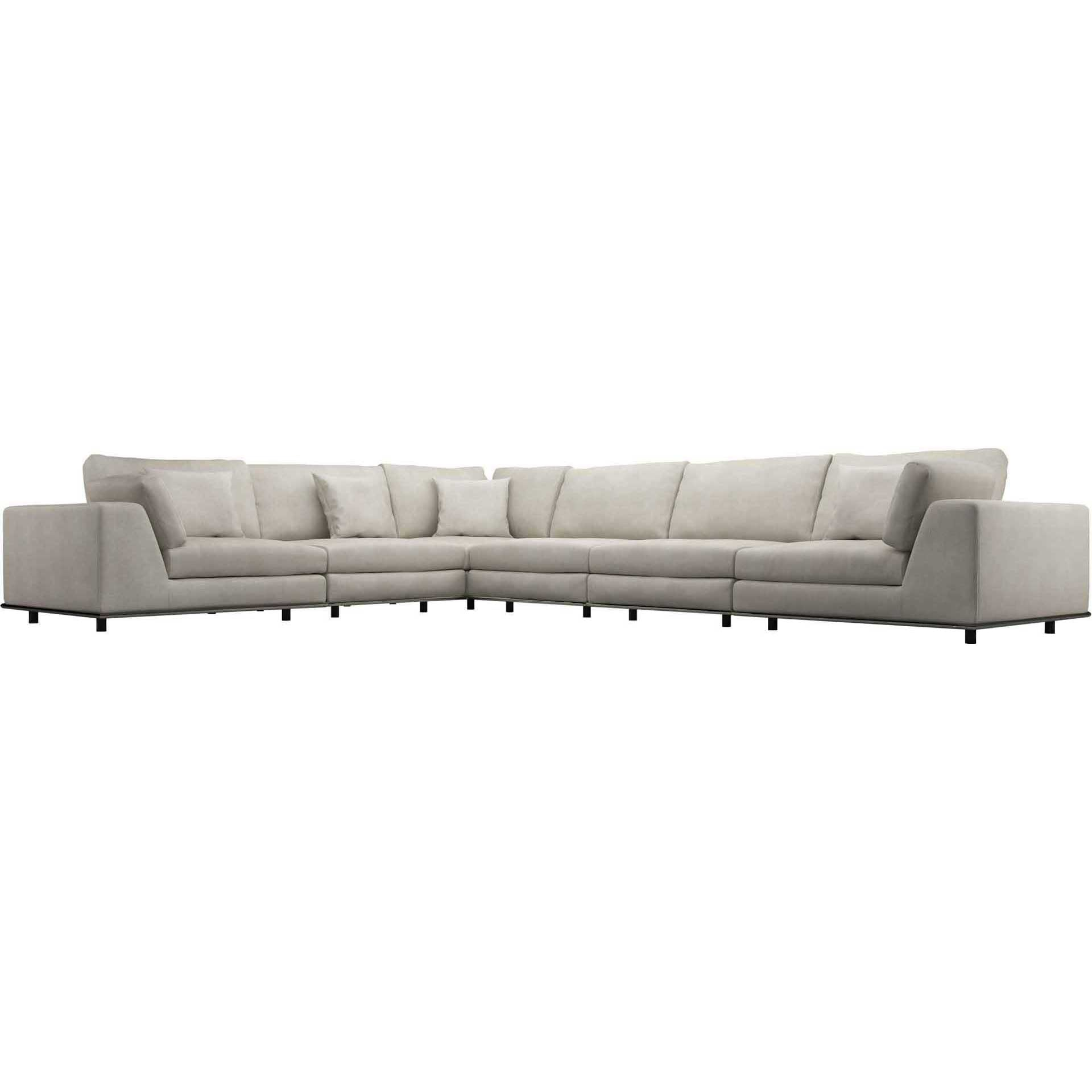 Perry Extended L-Corner Sofa Moonbeam