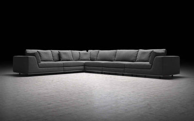 Perry Extended L-Corner Sofa Shadow Gray