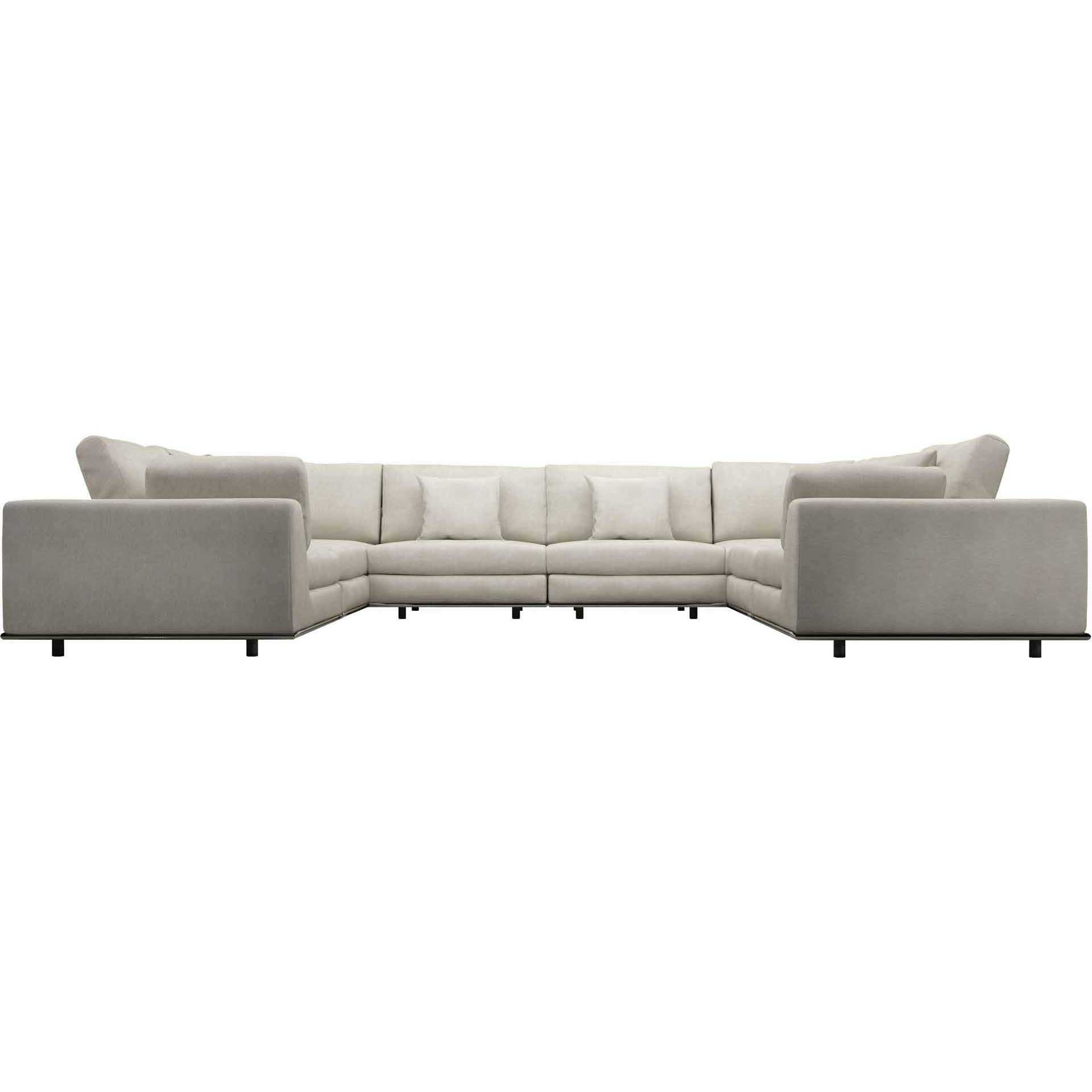 Perry U-Sectional Sofa Moonbeam