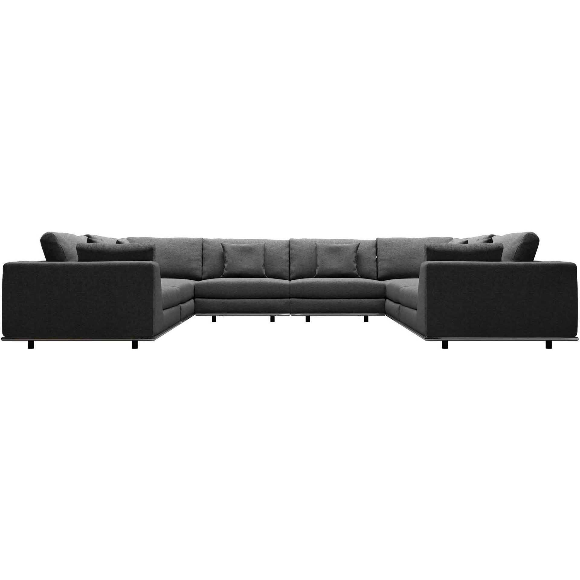 Perry U-Sectional Sofa Shadow Gray