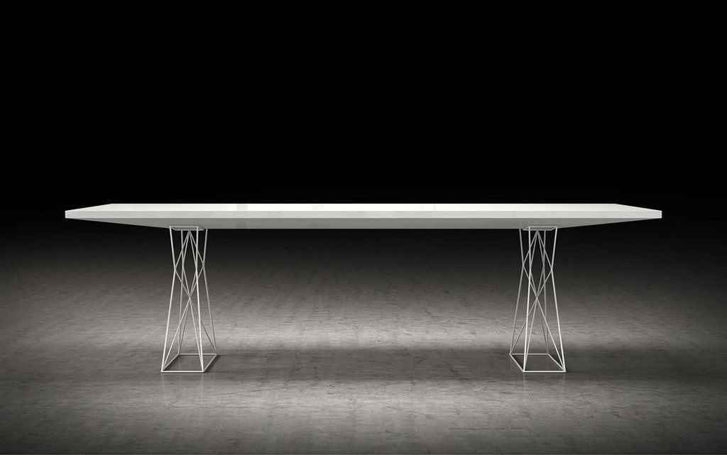 Curzon Dining Table White Lacquer FROY