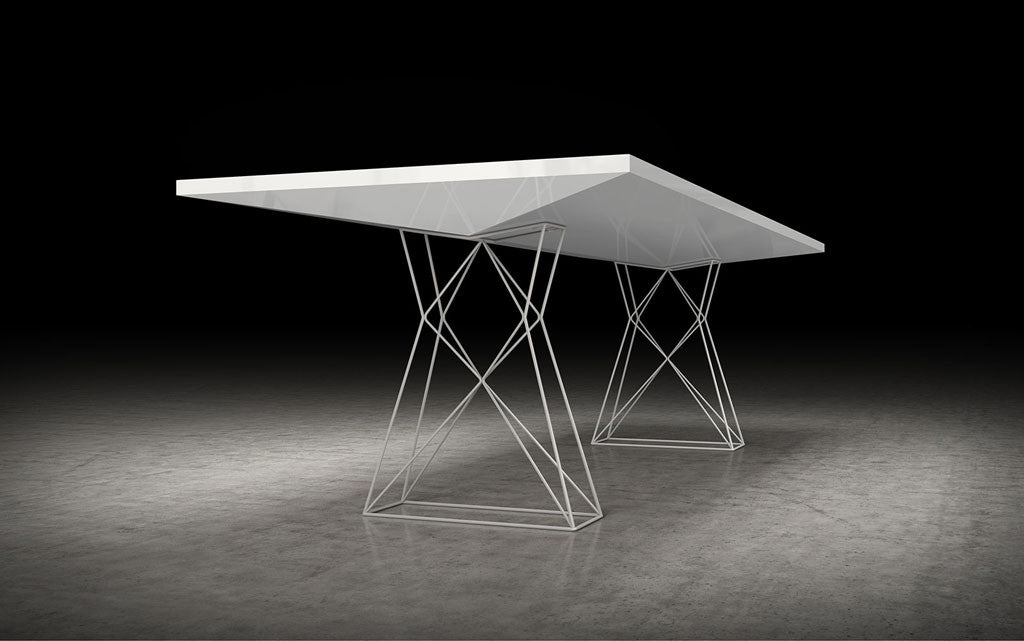 Curzon Dining Table White Lacquer FROY - White lacquer dining table