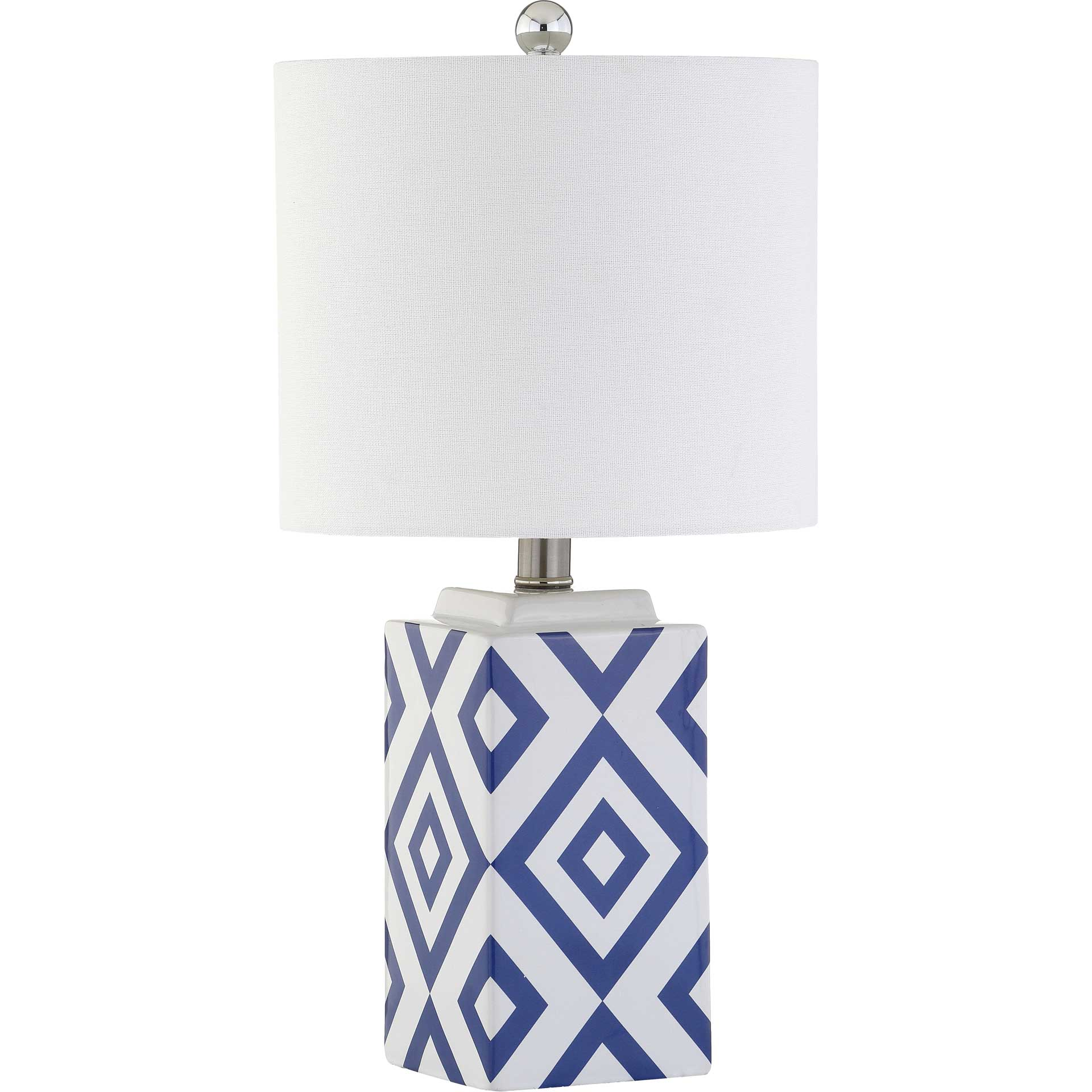 Lucian Table Lamp White/Blue