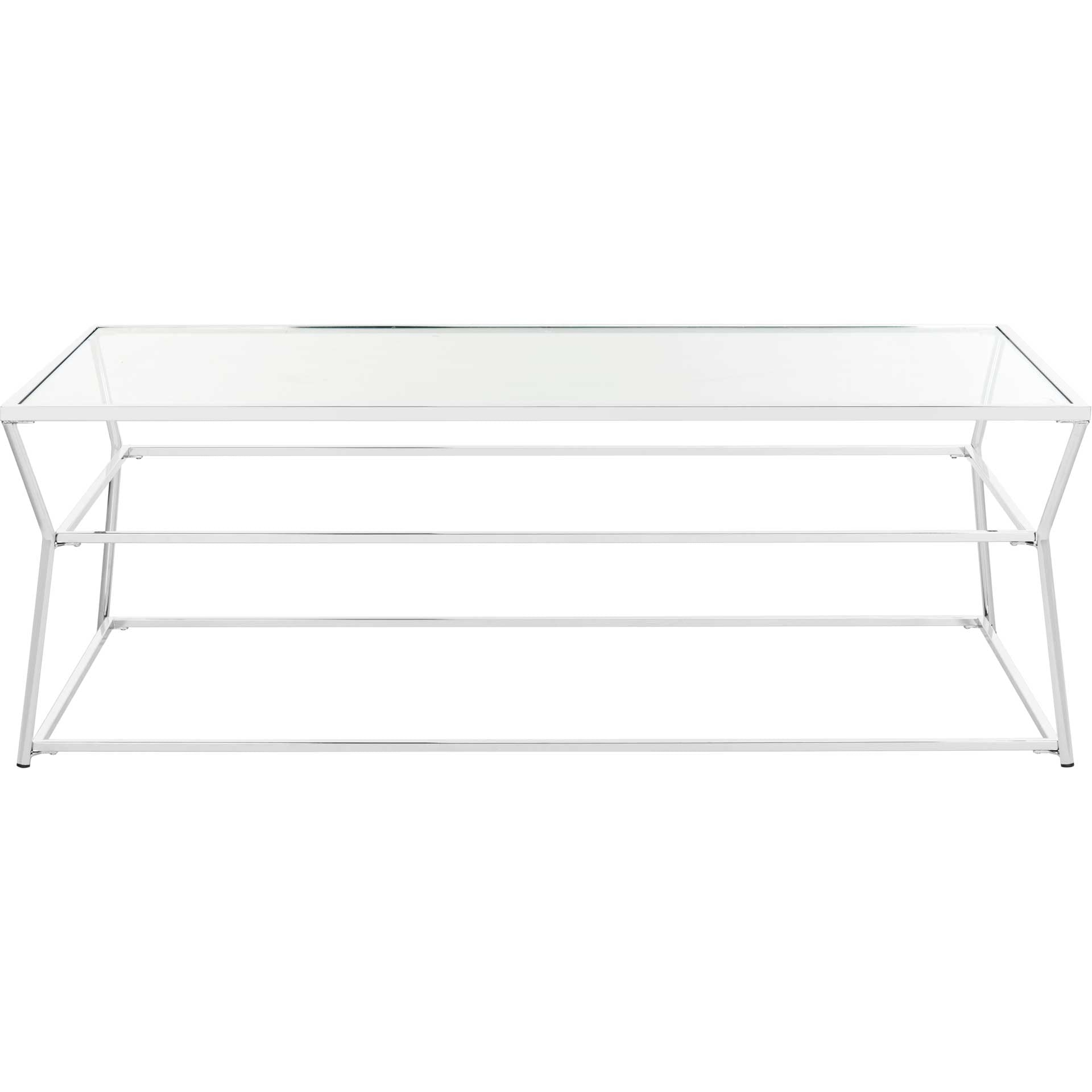 Elian Glass Coffee Table Chrome