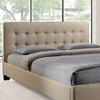 Calera Queen Fabric Bed Beige