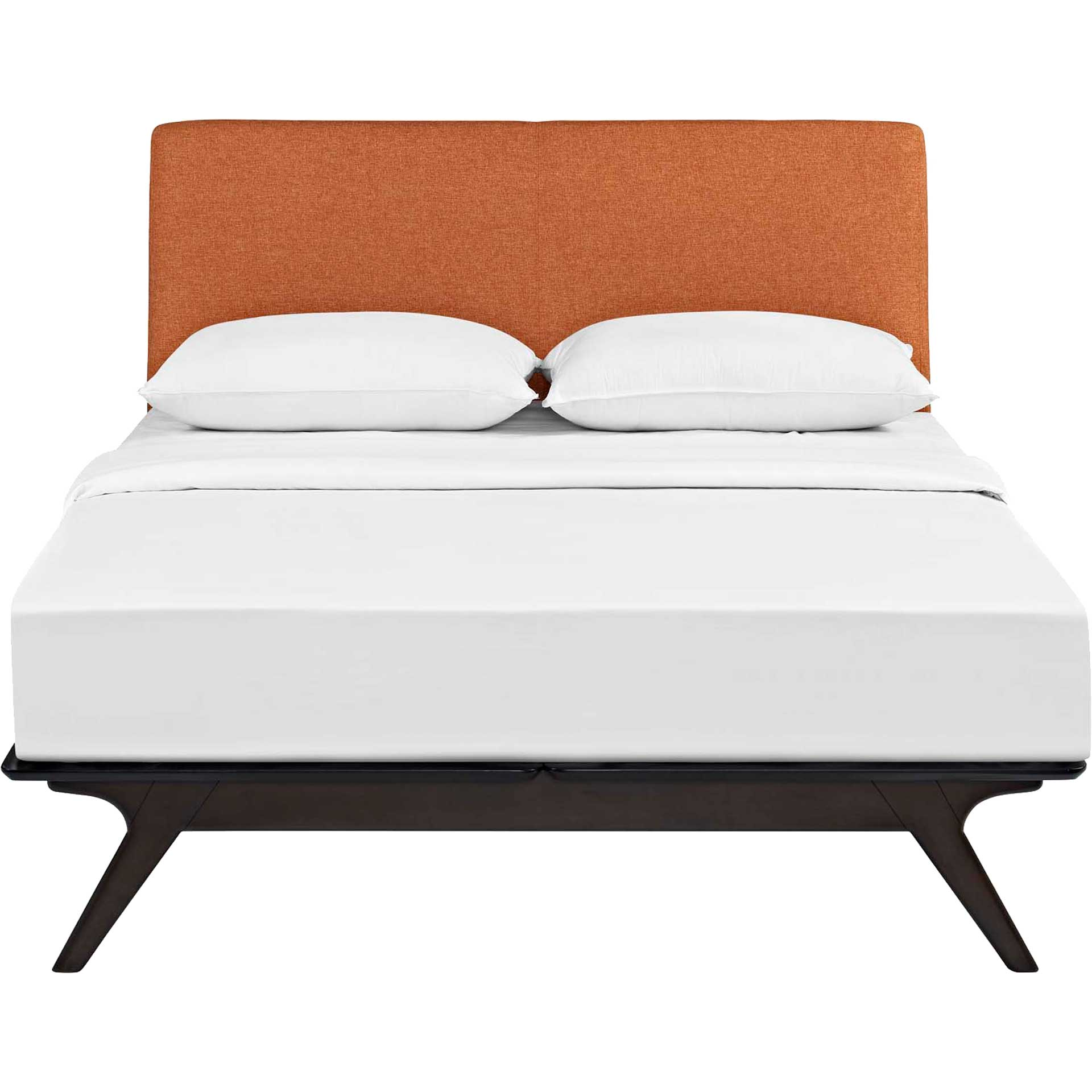 Thames Wood Bed Cappuccino/Orange