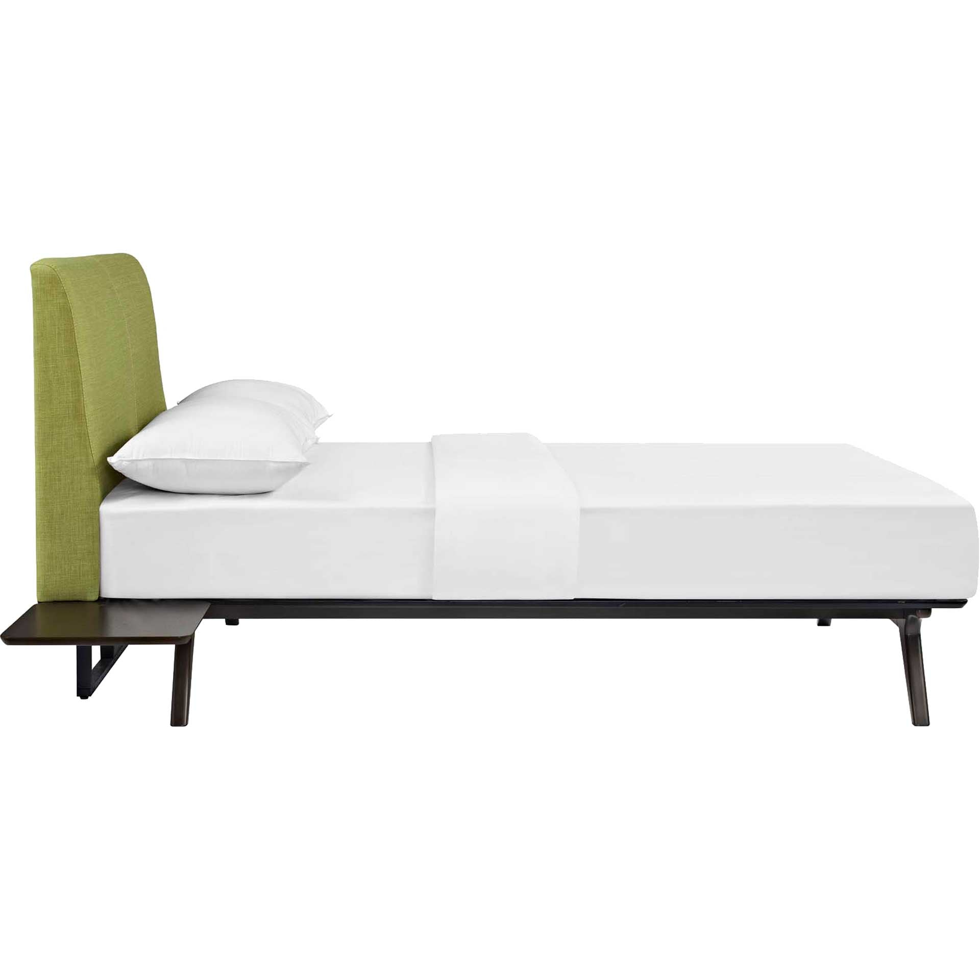 Thames Bed Cappuccino/Green With Side Tables