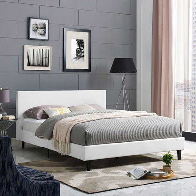 Alwyn Vinyl Bed White