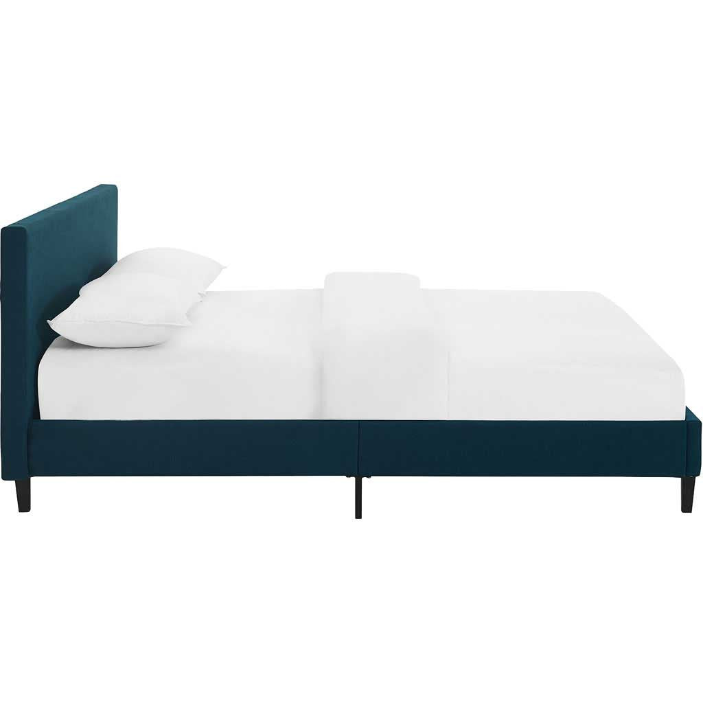 Alwyn Fabric Bed Azure