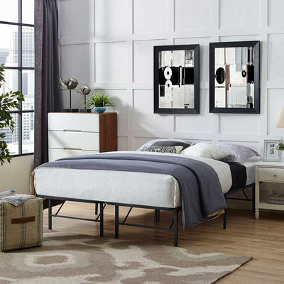 Henry Stainless Steel Bed Brown
