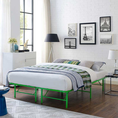 Henry Stainless Steel Bed Green