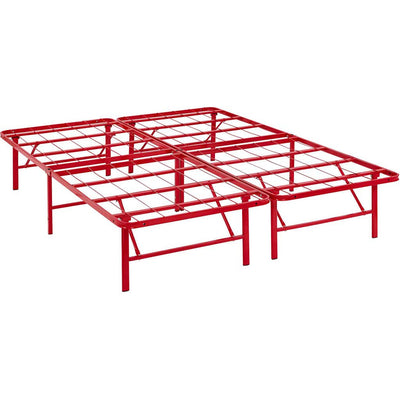 Henry Stainless Steel Bed Red