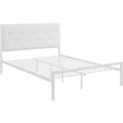 Lendal Vinyl Bed White