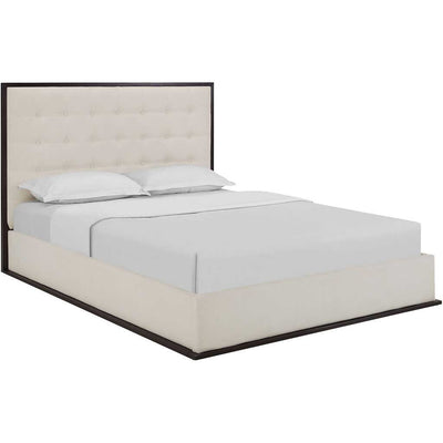 Marina Upholstered Bed Cappuccino/Ivory