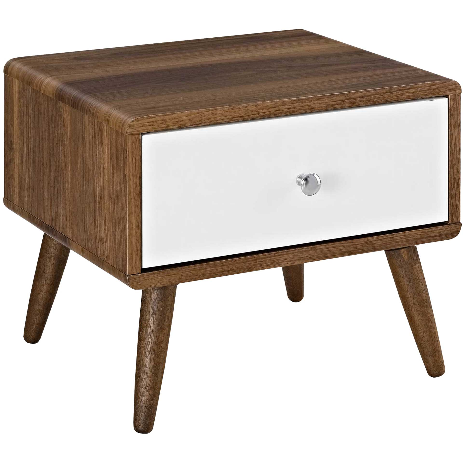 Tiffin Nightstand Walnut/White