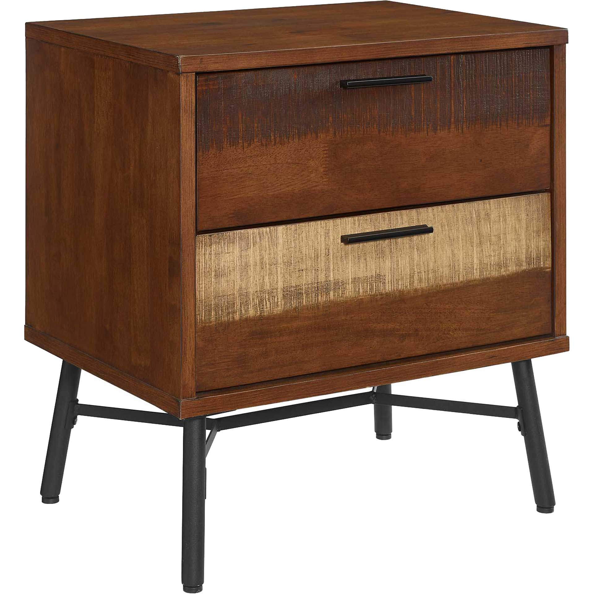 Alamosa Rustic Wood Nightstand Walnut