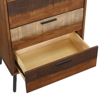 Alamosa Rustic Wood Chest Walnut