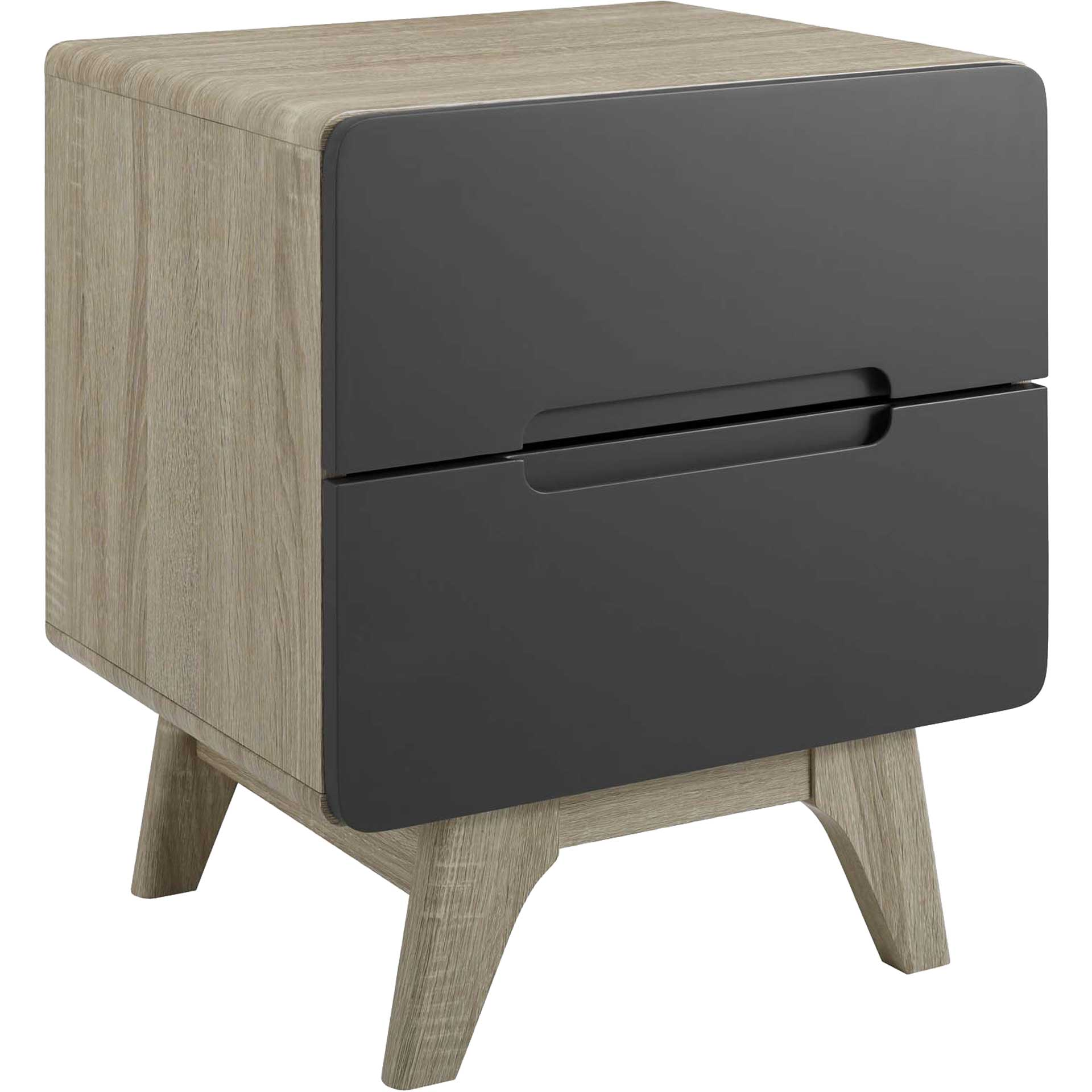 Orion Wood Nightstand Natural Gray