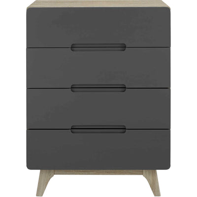 Orion Four-Drawer Chest Natural Gray