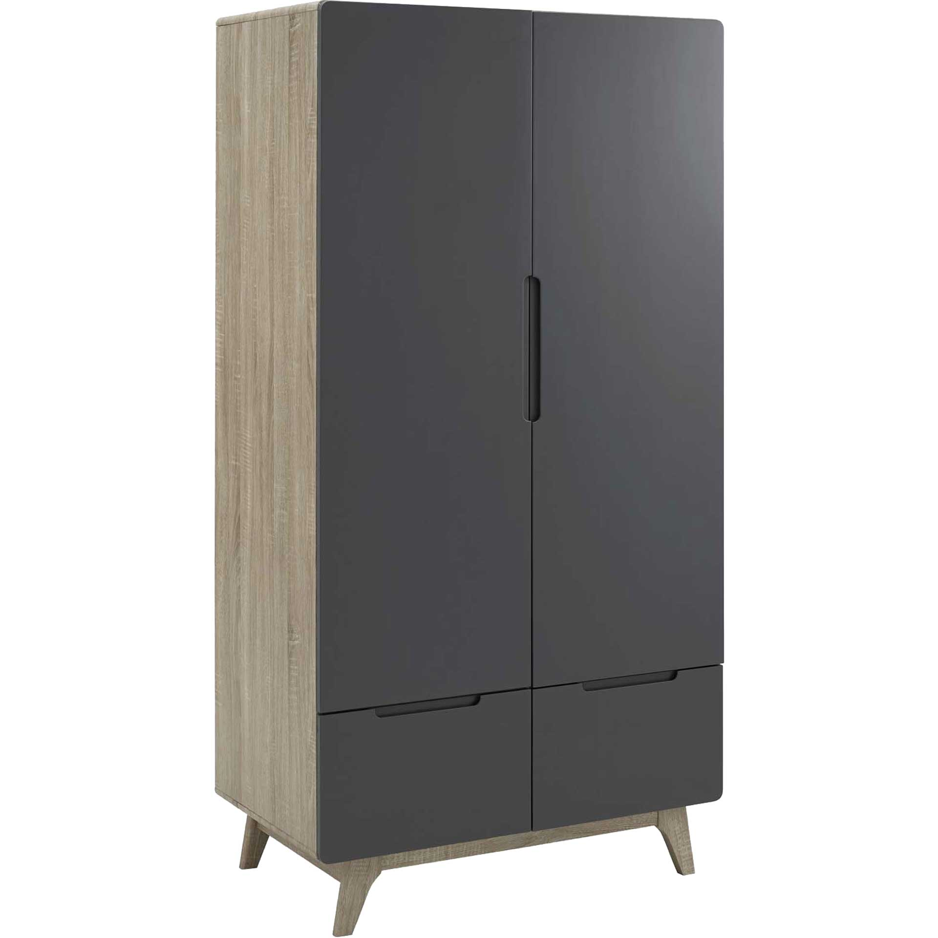 Orion Wood Wardrobe Cabinet Natural Gray