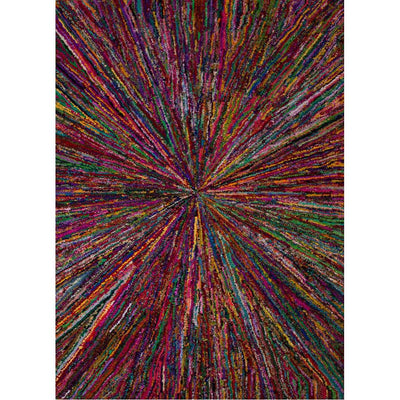 Monroe Wilde Magenta/Mars Red Area Rug