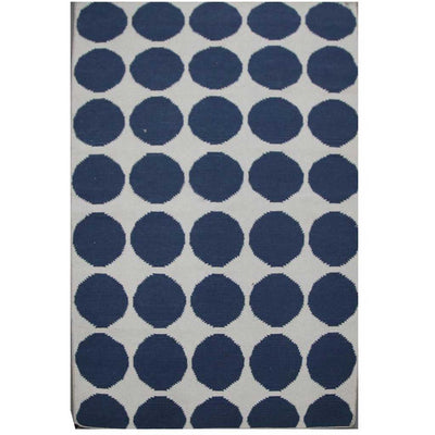 Maroc Ghita White/Dark Denim Area Rug