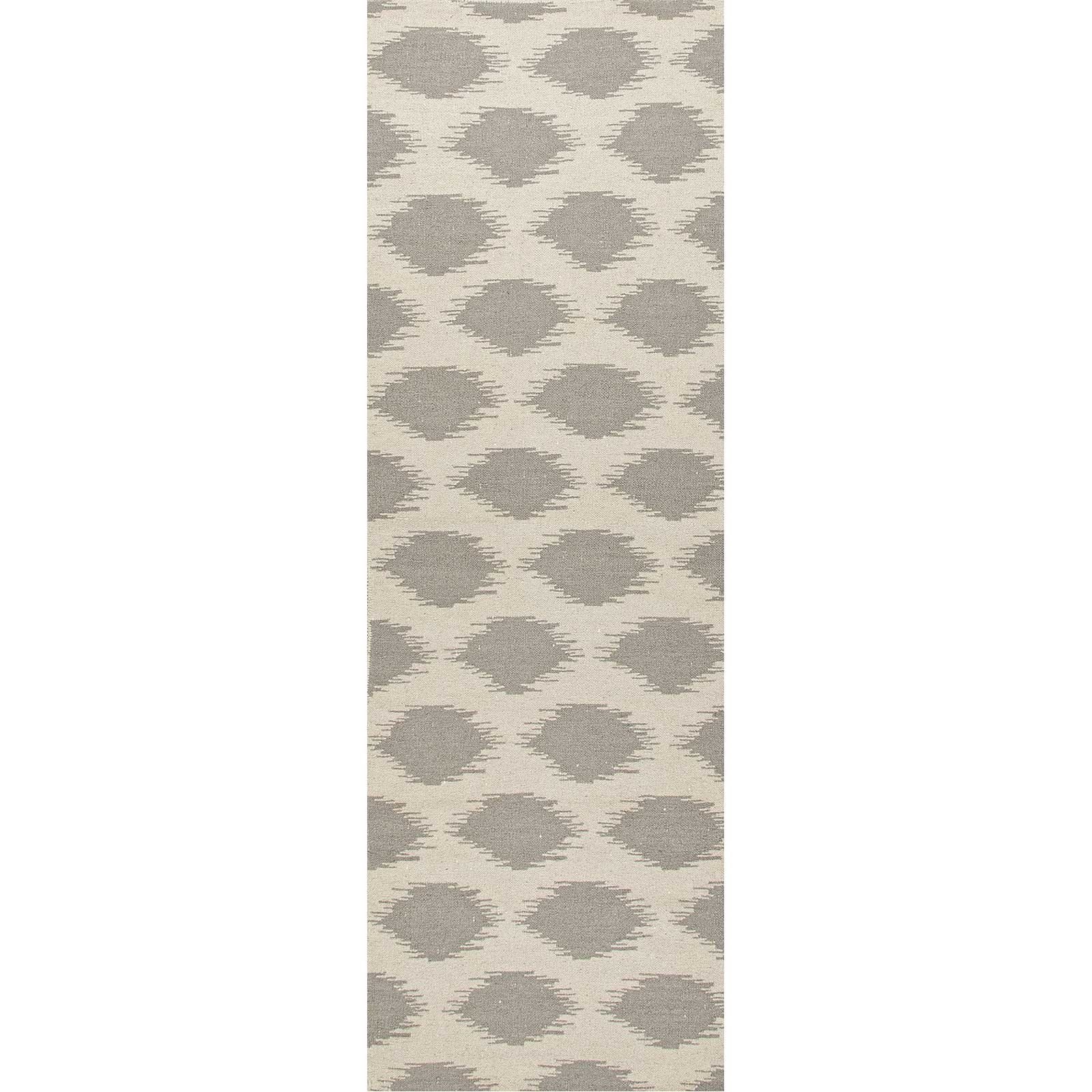 Maroc Nyasha Antique White/Medium Gray Runner Rug