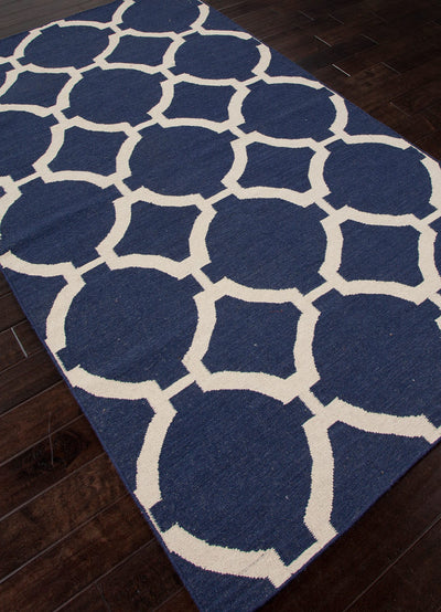 Maroc Rafi Deep Navy/Antique White Area Rug