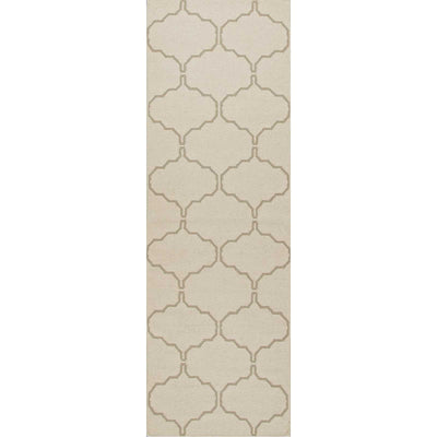 Maroc Delphine Antique White/Silver Gray Runner Rug