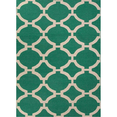 Maroc Rafi Emerald Green/Antique White Area Rug