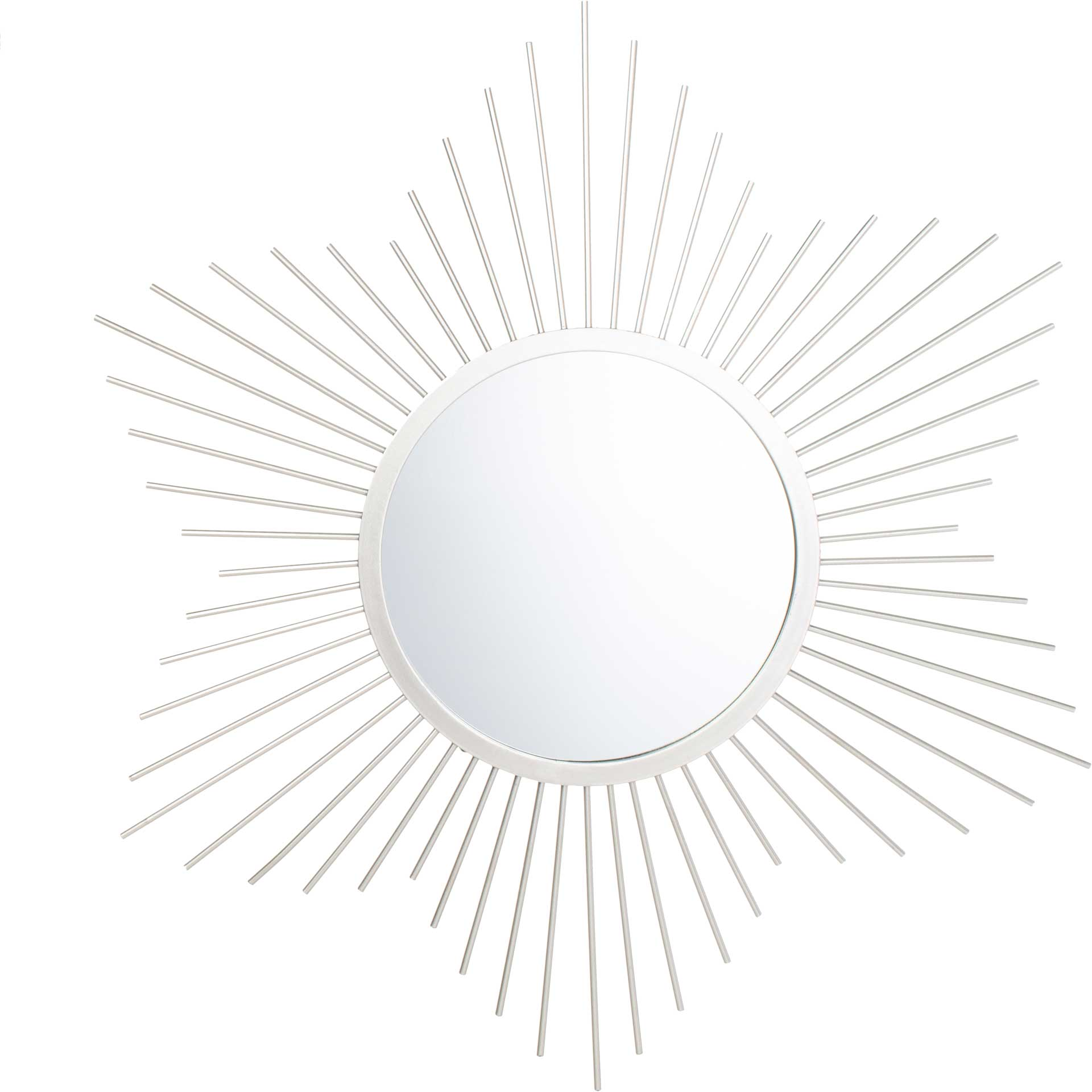 Ritz Sunburst Mirror Silver