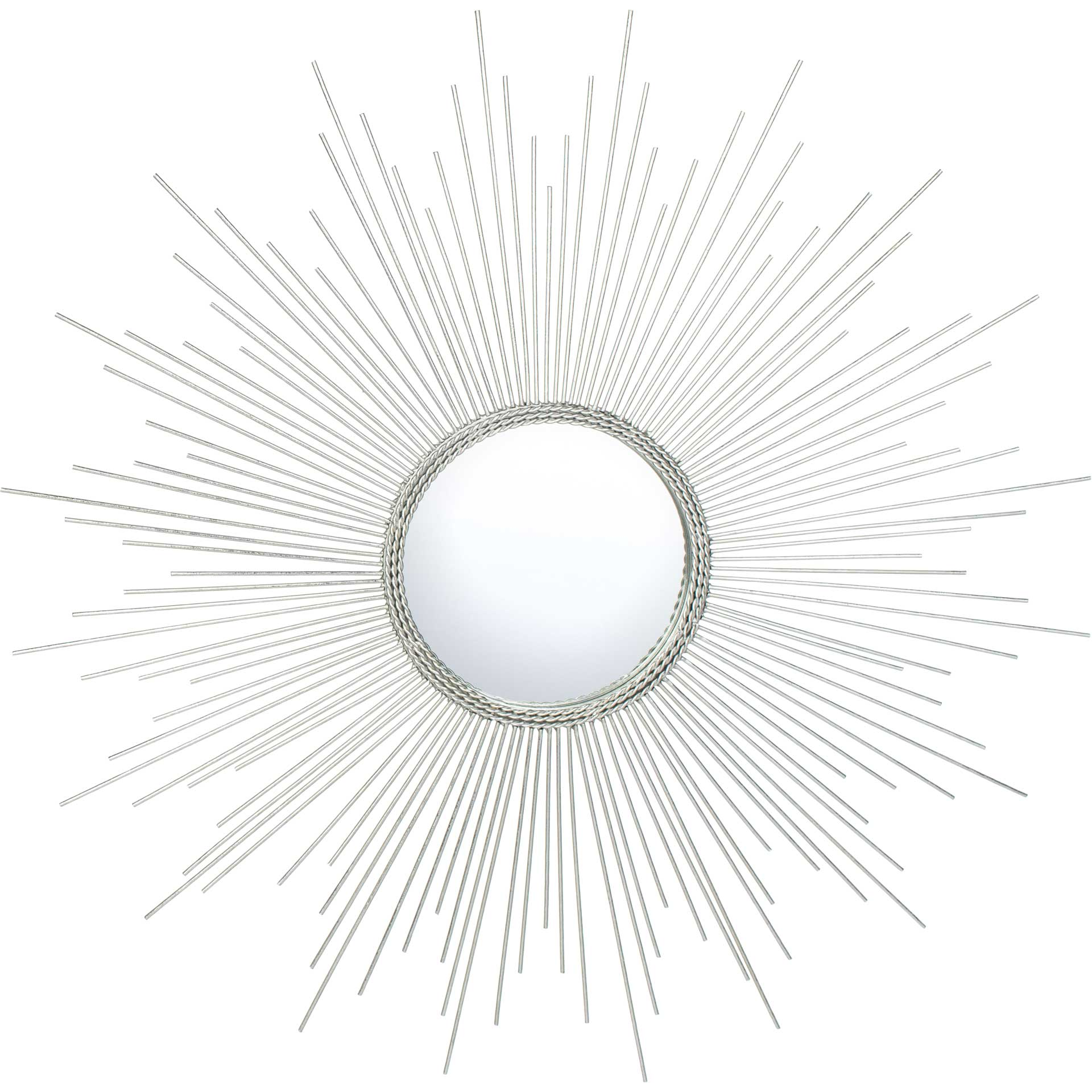 Empress Sunburst Mirror Silver