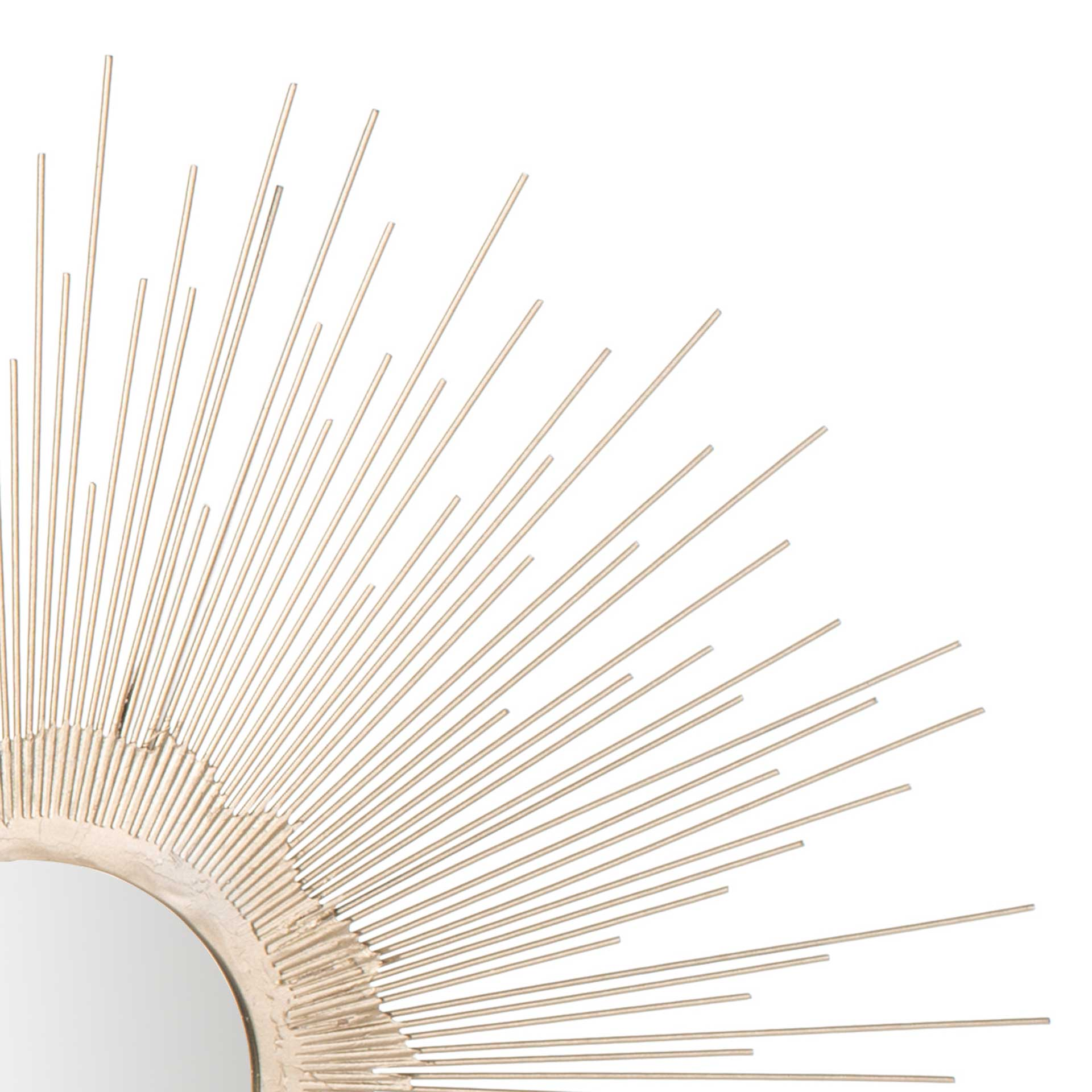 Olavi Sunburst Mirror Antique Silver