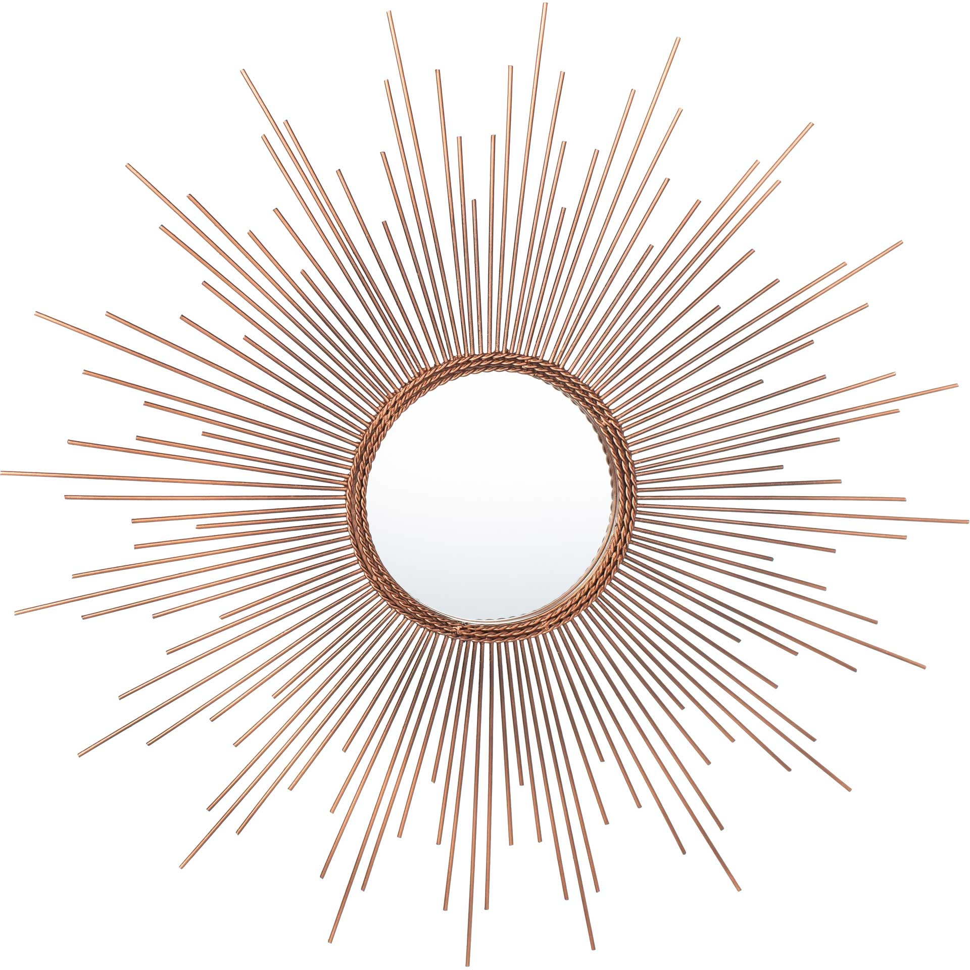 Gemma Sunburst Mirror Copper