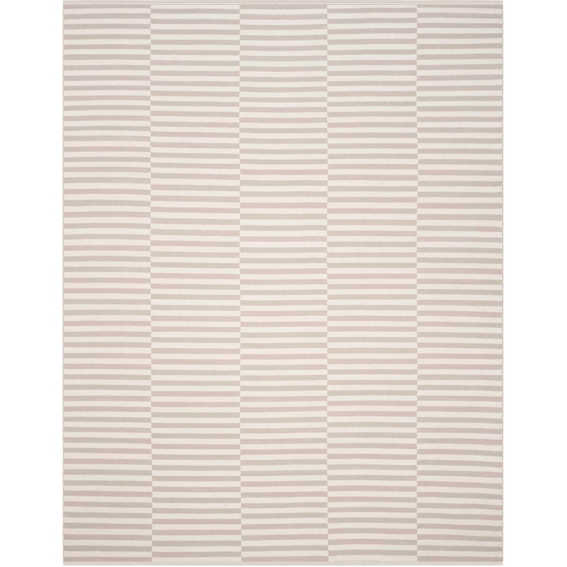 Montauk Checker Ivory/Light Gray Area Rug